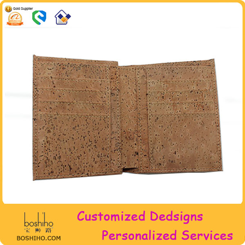 Boshiho Customized Logo Cork Wallet Vegan Wallet Non Leather Wallet
