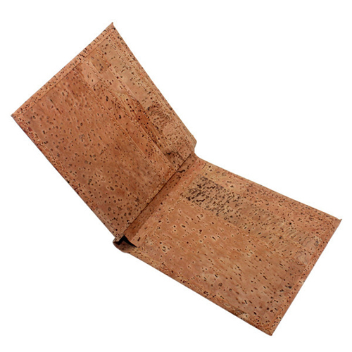 Factory Promothion Gift Cork Leather Wallet Mens Rfid Blocking Card Holder