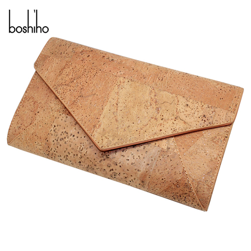 hot selling fashion cork wallet for women clutch bag