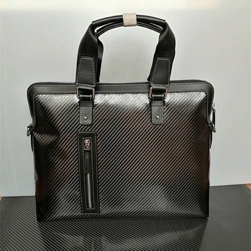 Boshiho Custom Design High Quality Carbon Fiber Leather Bag Portfolio Handbags