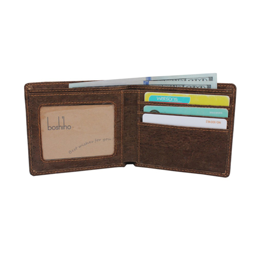 Wholesale cork wallet Boshiho leather manufacturer new wallets
