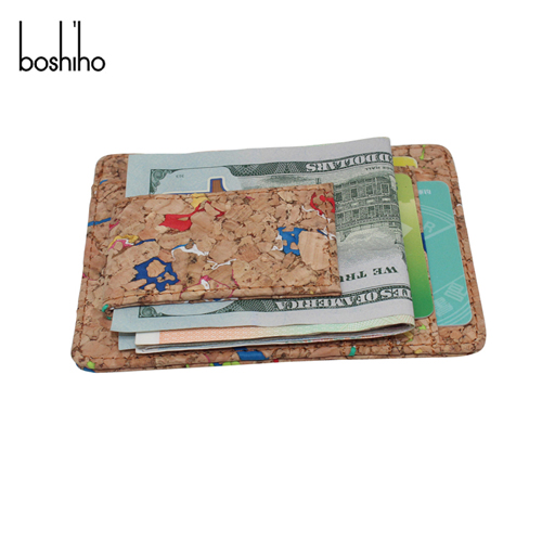 Boshiho Slim Eco-friendly cork money clip card holder