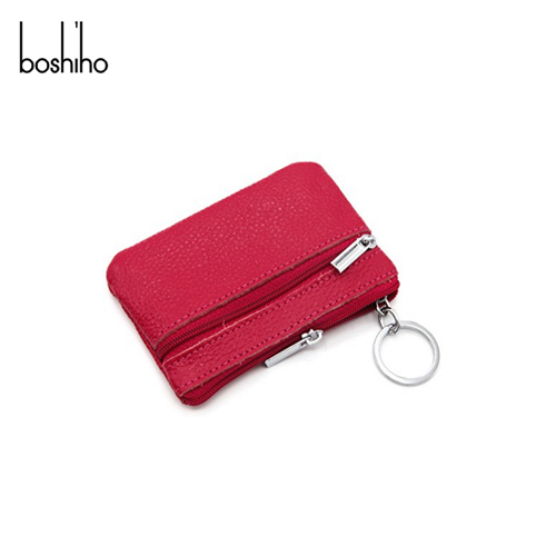 Wholesale Handmade Mini Small Cheap Leather zipper Coin Purse