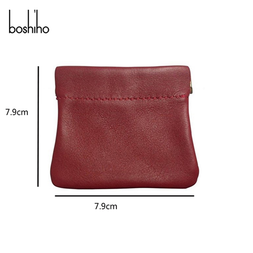 Boshiho fashion mini leather wallet with coin purse