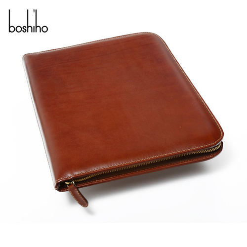 fashion top grade leather men folder for briefcase