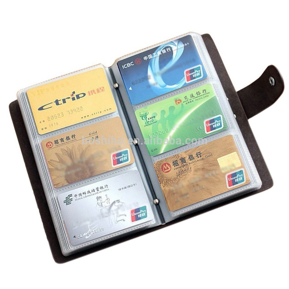 Boshiho Leather Card Holder Book 90 Count Name Card Holder Book