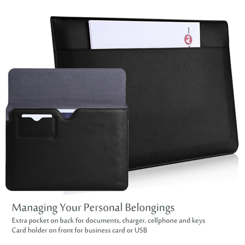 Lauxry faux leather case for iPad sleeve case
