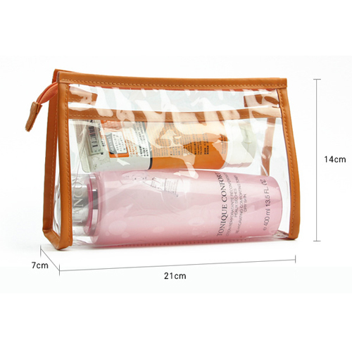 Boshiho Manufacture Customize PVC Travel Cosmetic Bag Transparent Cosmetic Bag