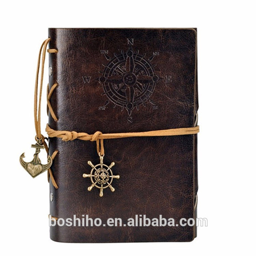 Boshiho Loose Pirate Leather Notebook Journal Diary