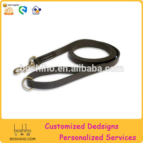 Customized leather dog leash pets leash wholsesale