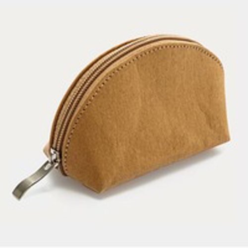 Wholesales convenient coin purse mini handbag small ecofriendly washed kraft paper change purse